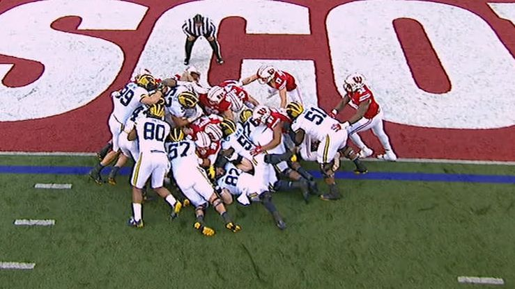Michigan powers through for tying TD