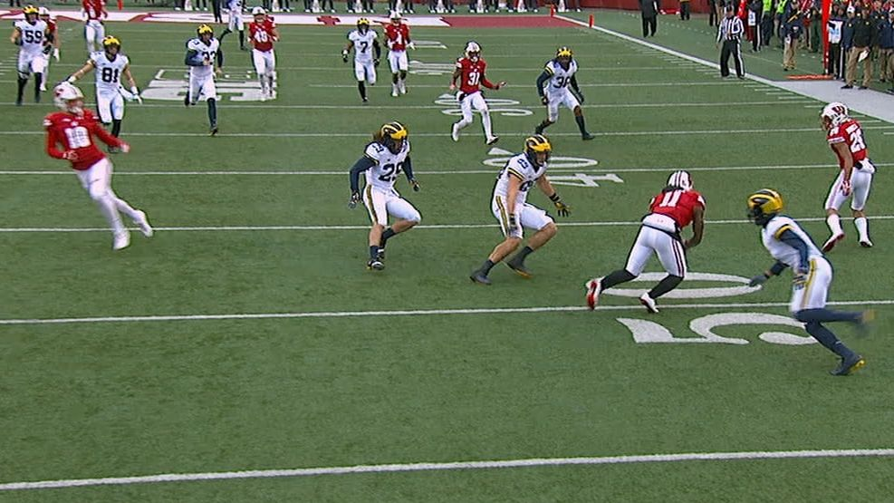 Badgers score on 50-yard punt return