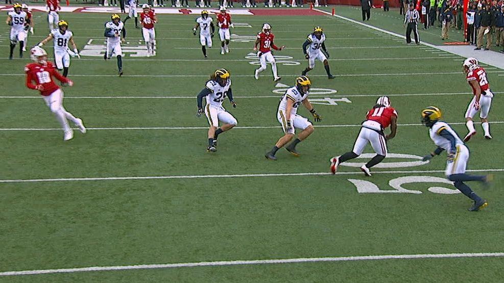 Badgers score on 50-yard punt return