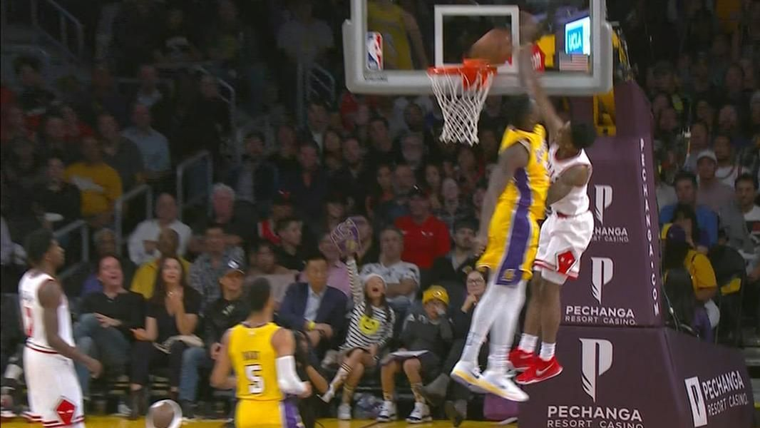 Blakeney stares down Randle on slam