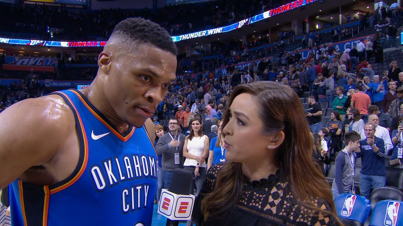 Westbrook on competing: 'I'm coming at your neck every single night'