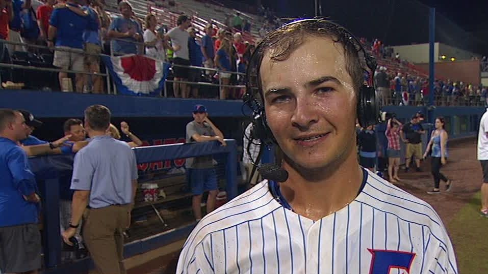 Langworthy 'absolutely stoked' after hitting HR