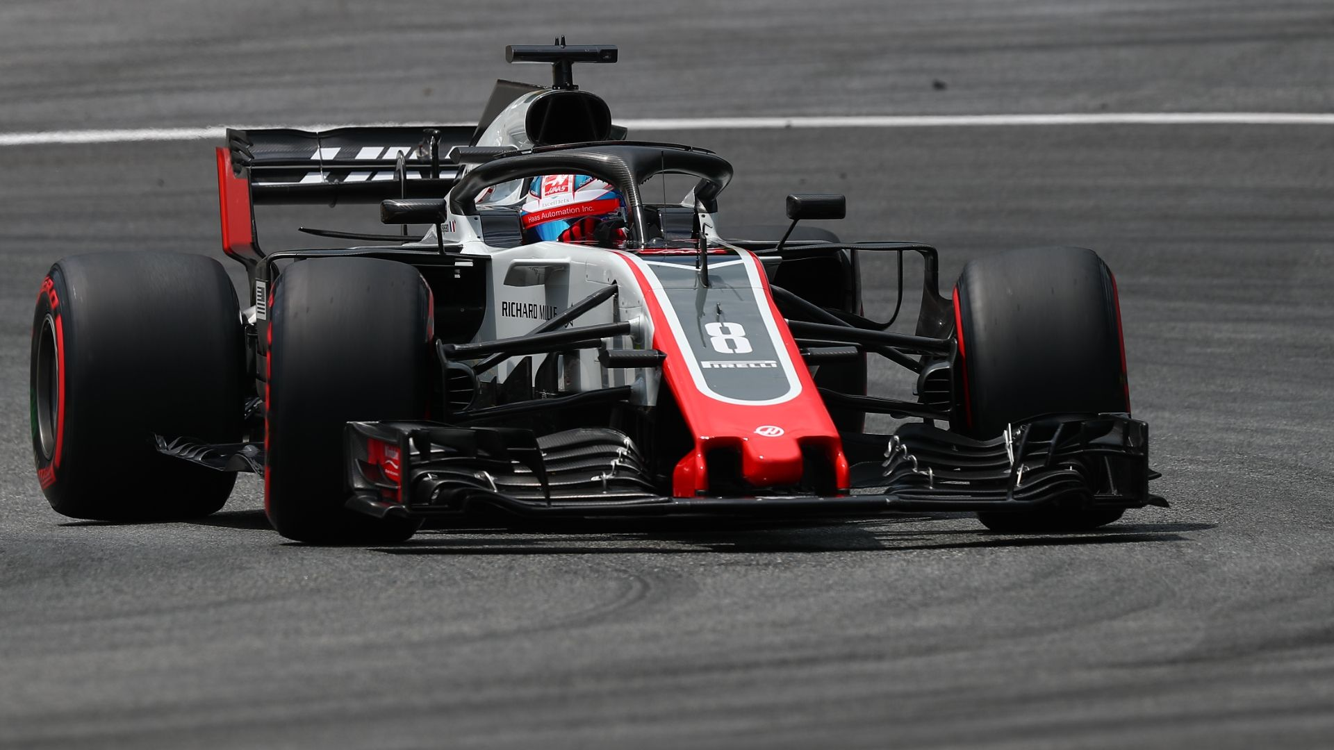 Haas puts the midfield on notice in Austria