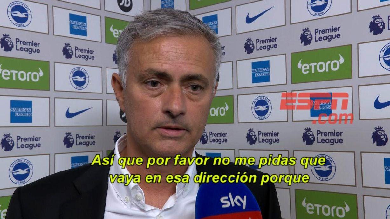 La burla de Mourinho con un periodista tras la derrota del United