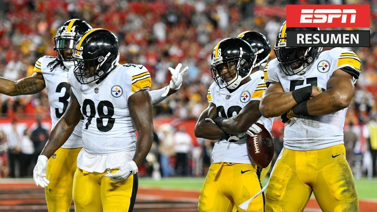La magia de Fitzpatrick apareció tarde y los Steelers consiguieron su primera victoria