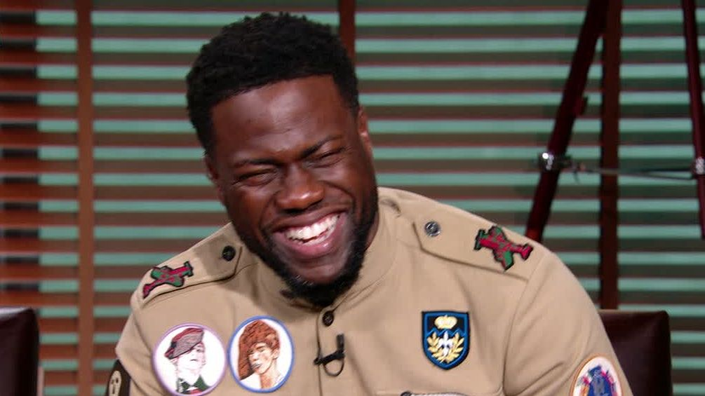 Kevin Hart in tears after hearing Kahwi's laugh