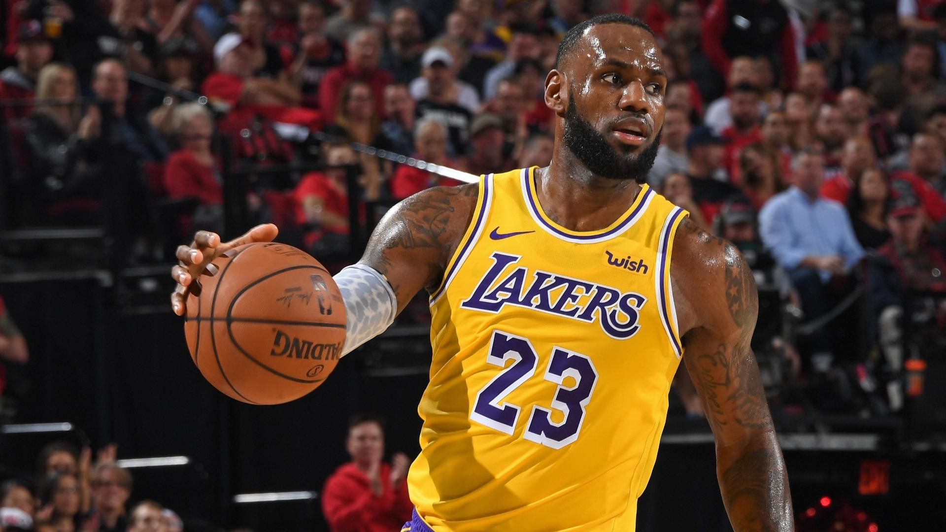 Blazers spoil James' debut with 128-119 win over the Lakers