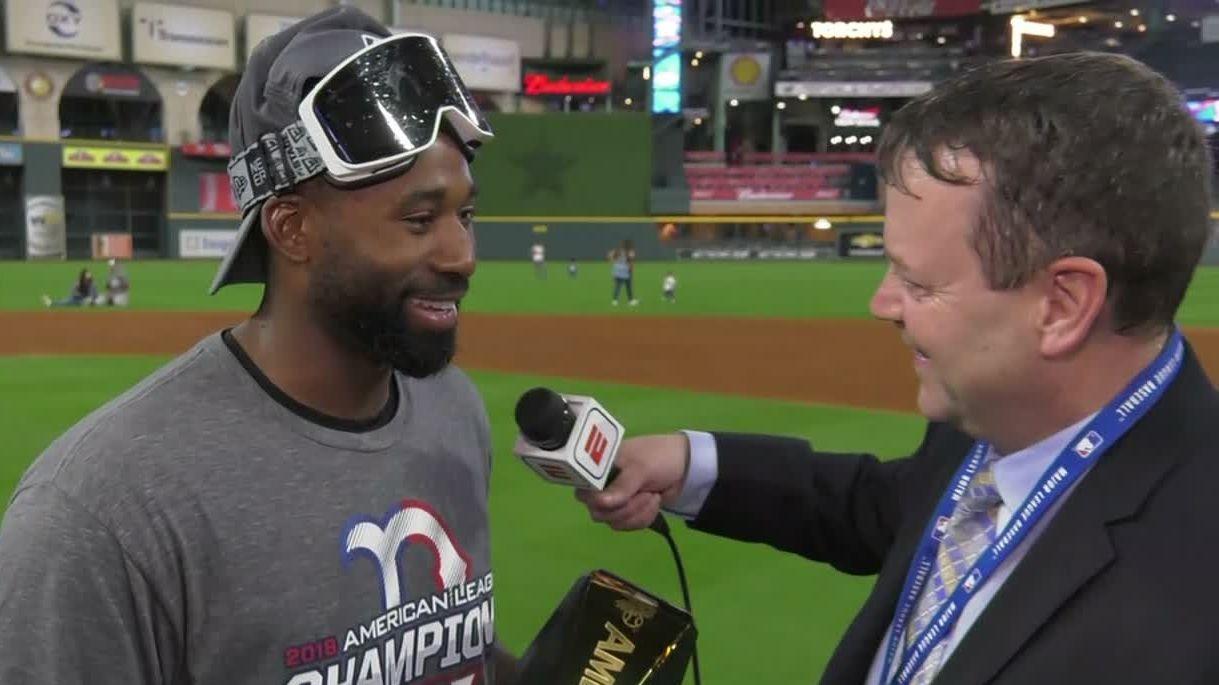 Bradley calls winning ALCS MVP 'amazing'