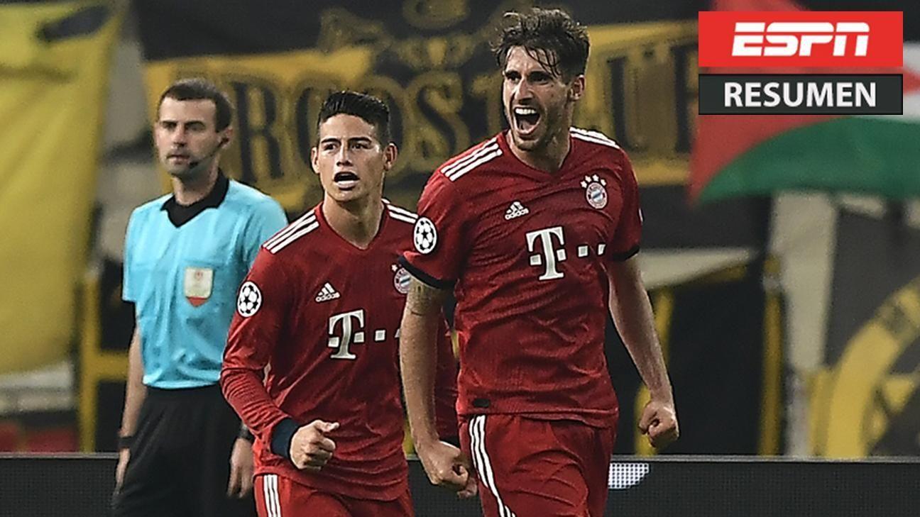 Resumen: AEK Atenas 0-2 Bayern Munich