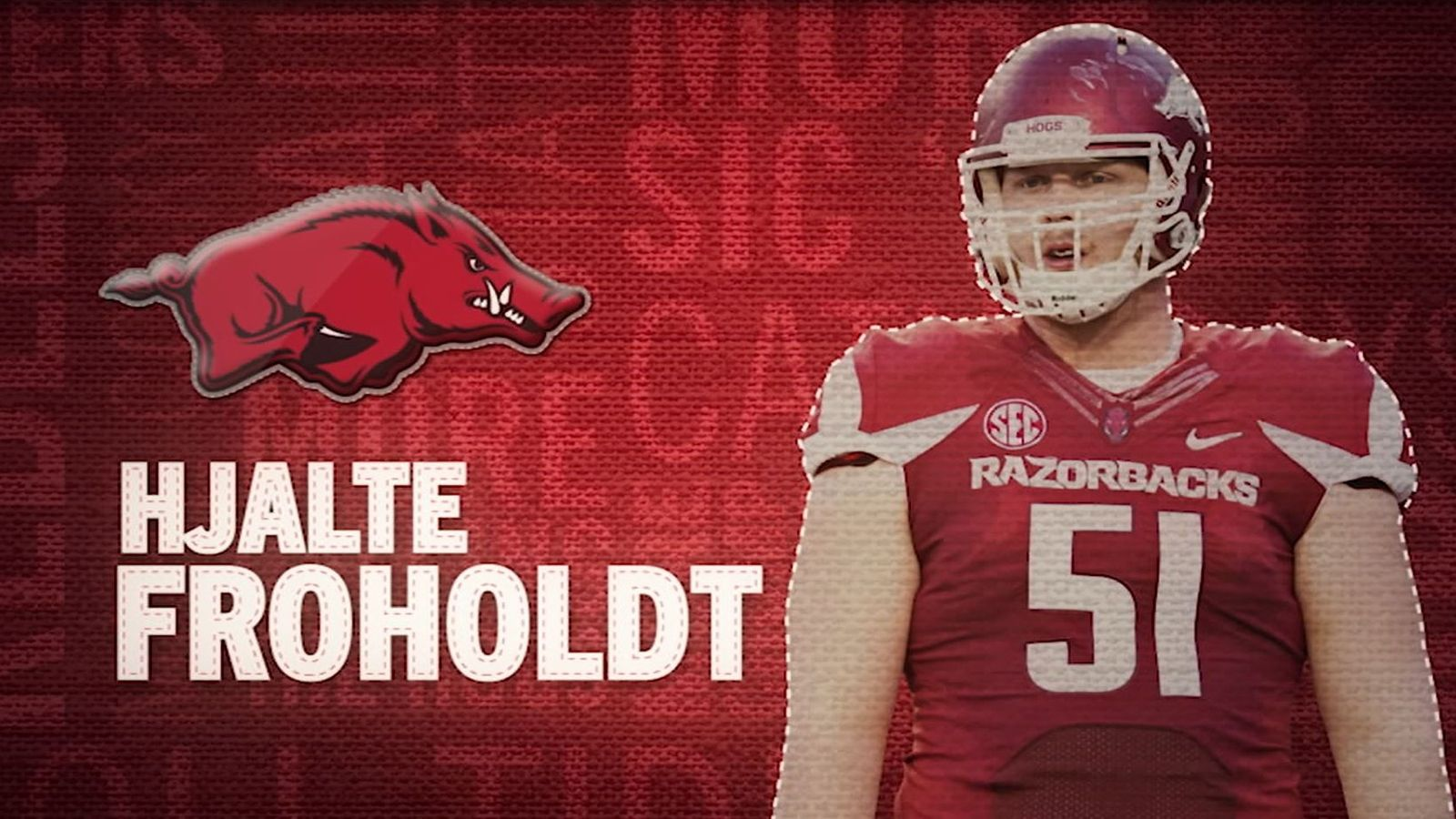 I am the SEC: Arkansas' Hjalte Froholdt
