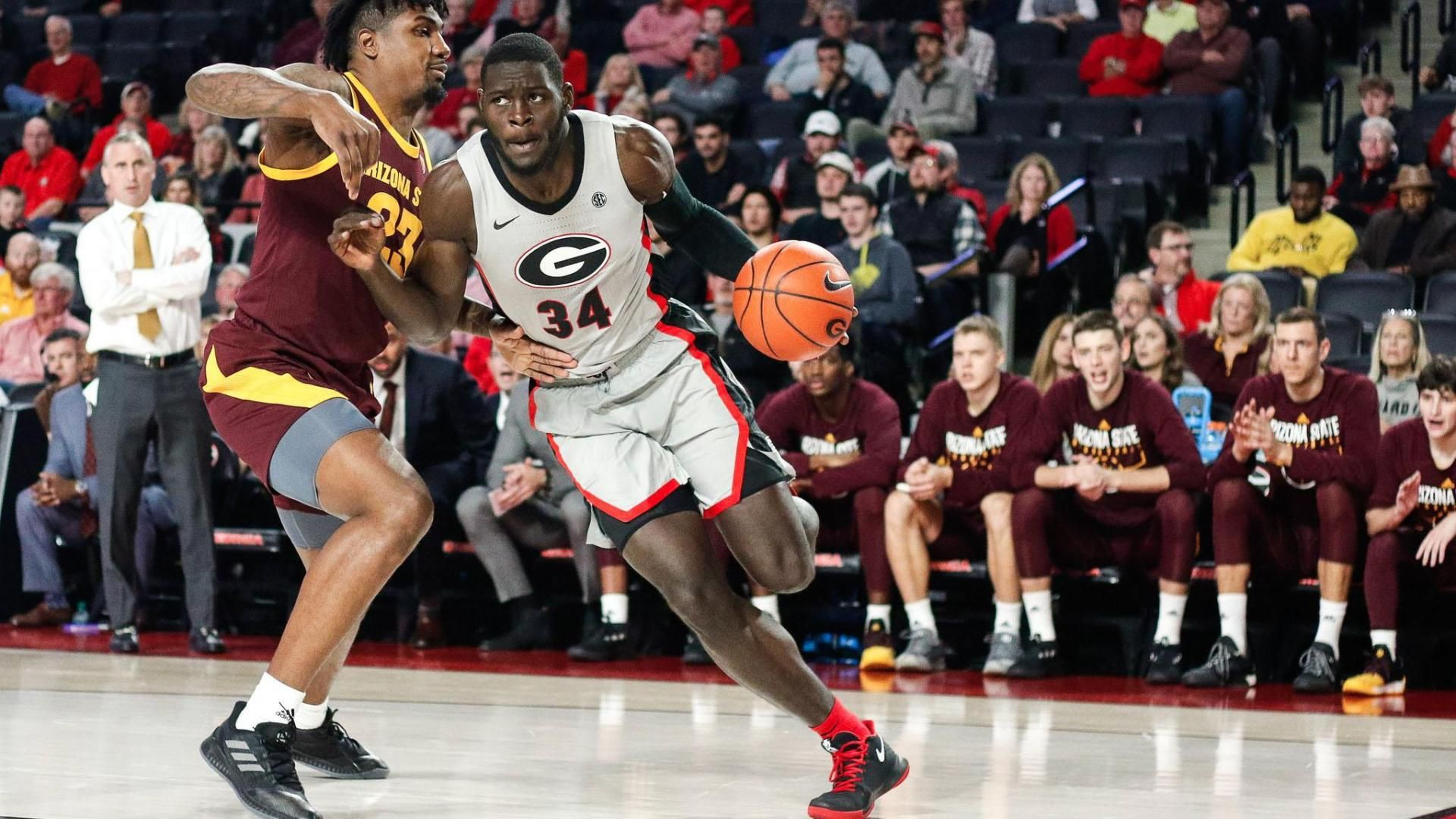 Georgia falls late vs. No. 20 Arizona State