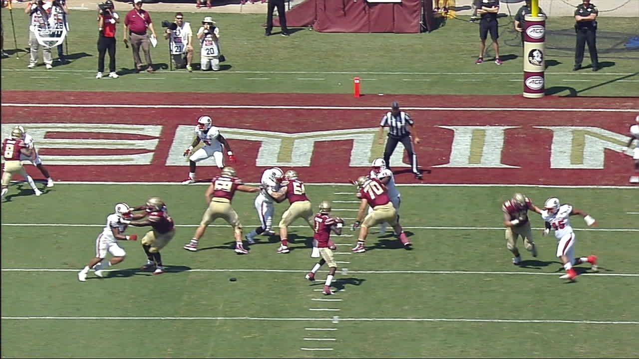 Blackman threads the needle for first FSU TD