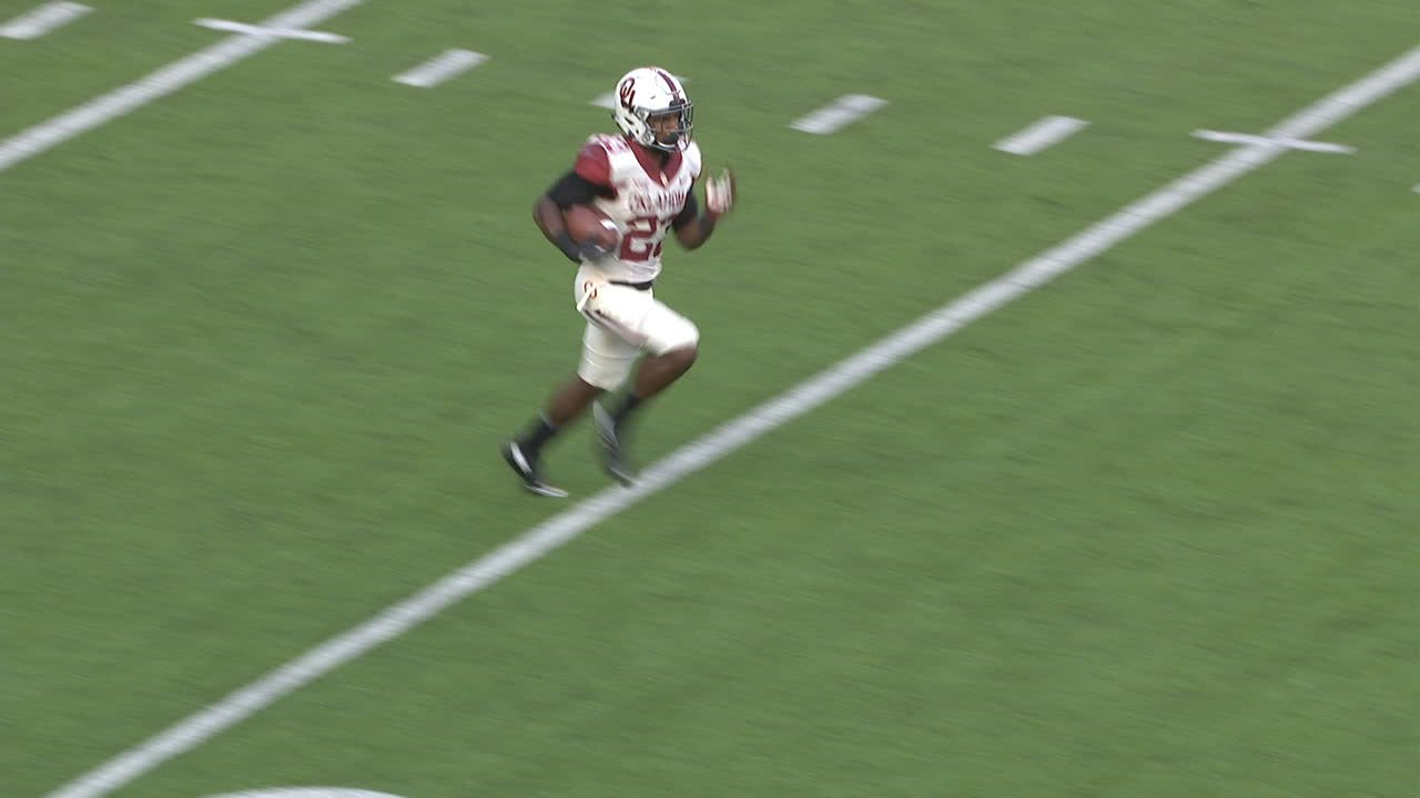 99 yards! Adams runs the distance for TD