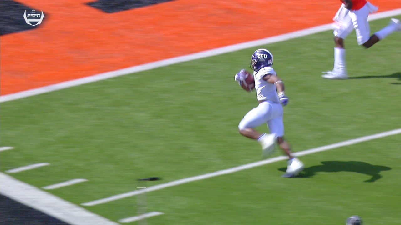 TCU's Anderson weaves his way into the end zone