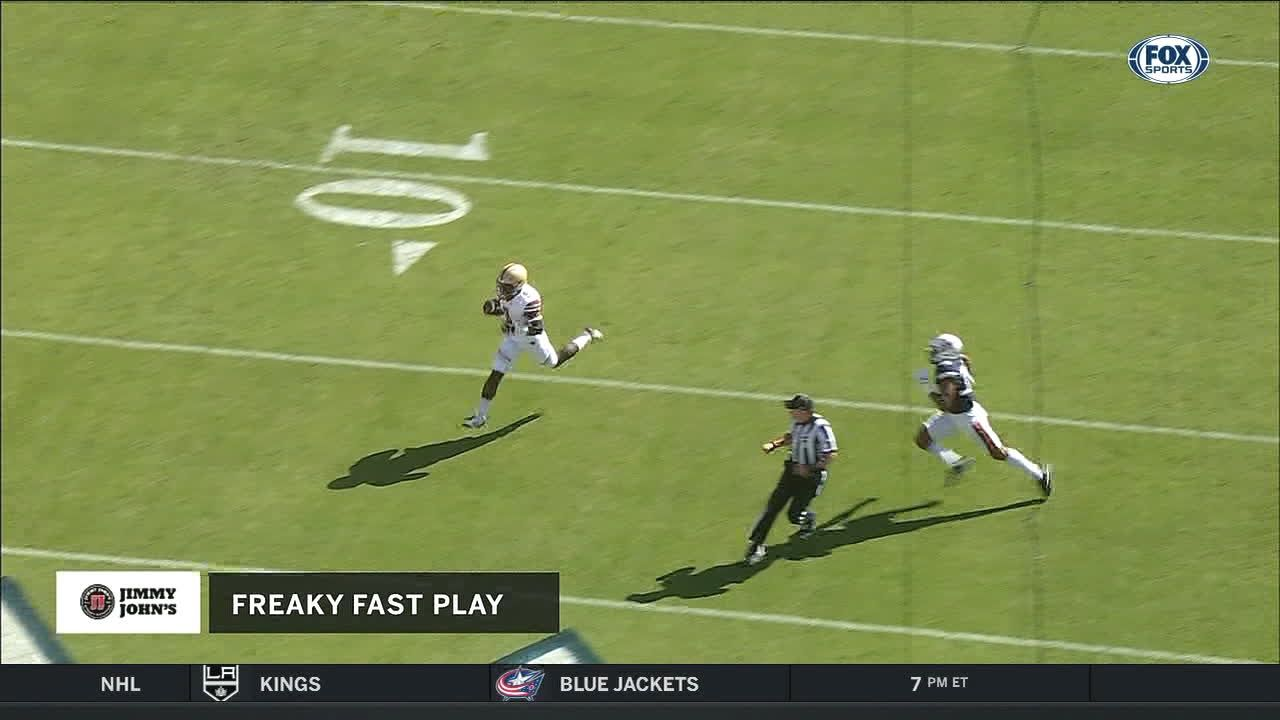 Brown connects with White for big TD