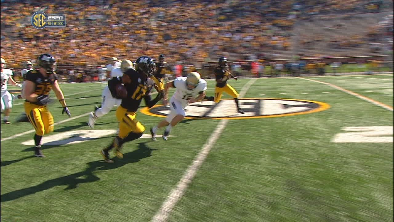 Fancy footwork leads to Mizzou punt return TD