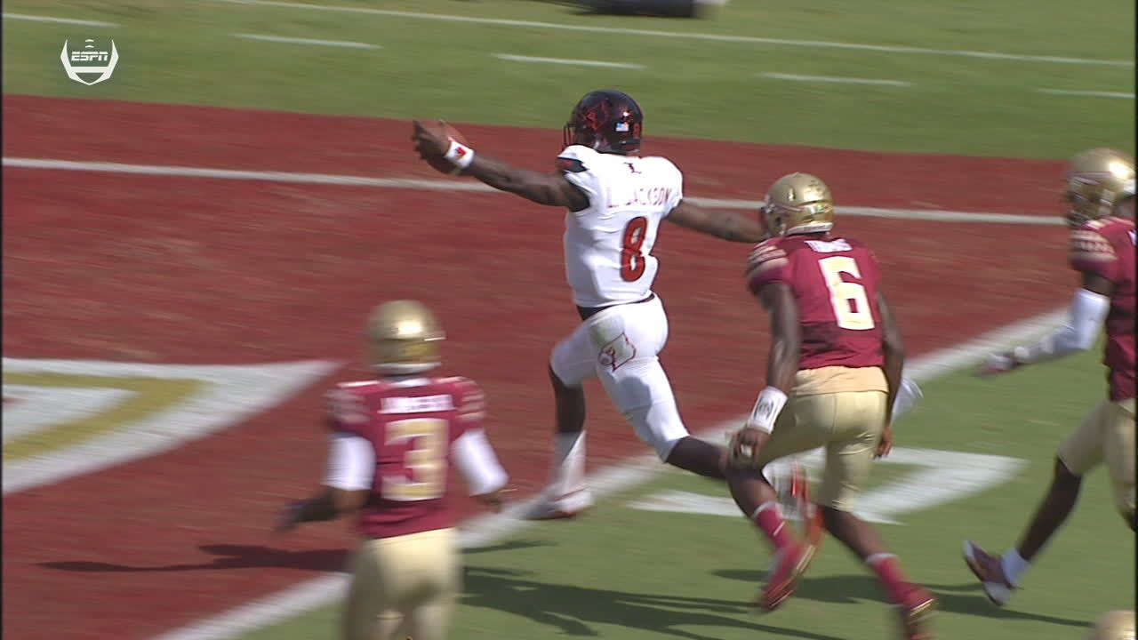 Louisville's Jackson sprints for first TD of game