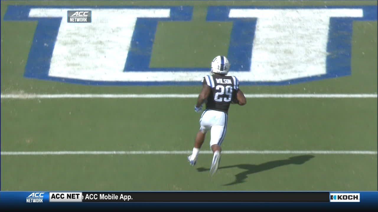 Duke's Wilson takes it 58 yards for TD
