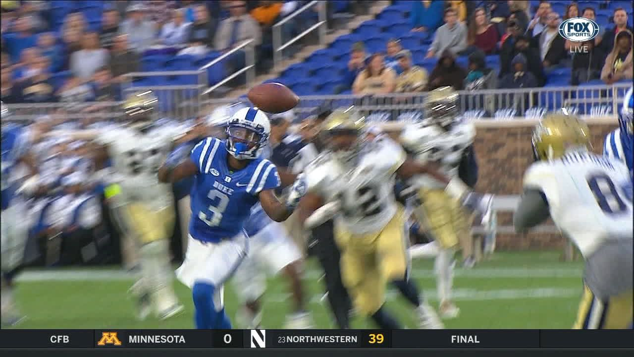 Duke's Rahming juggles ball and comes up with one-handed catch