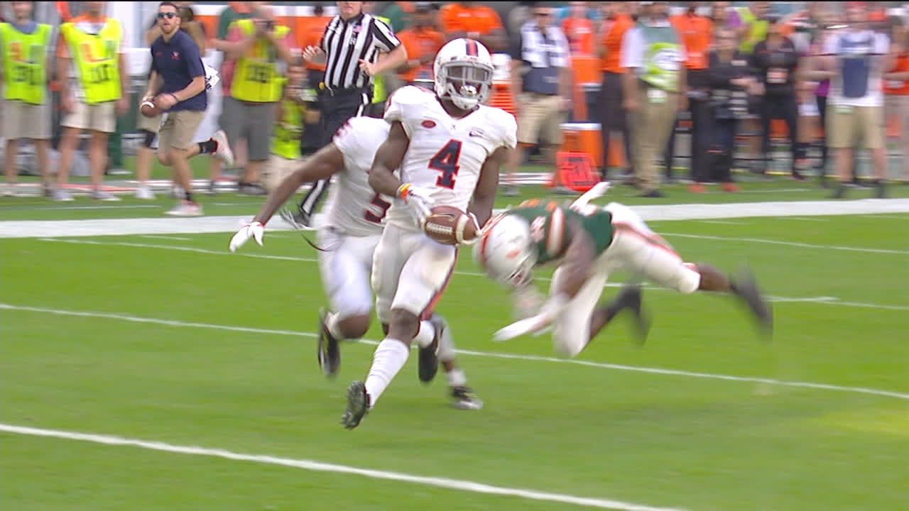 Virginia strikes first on the road in Miami with 33-yard TD