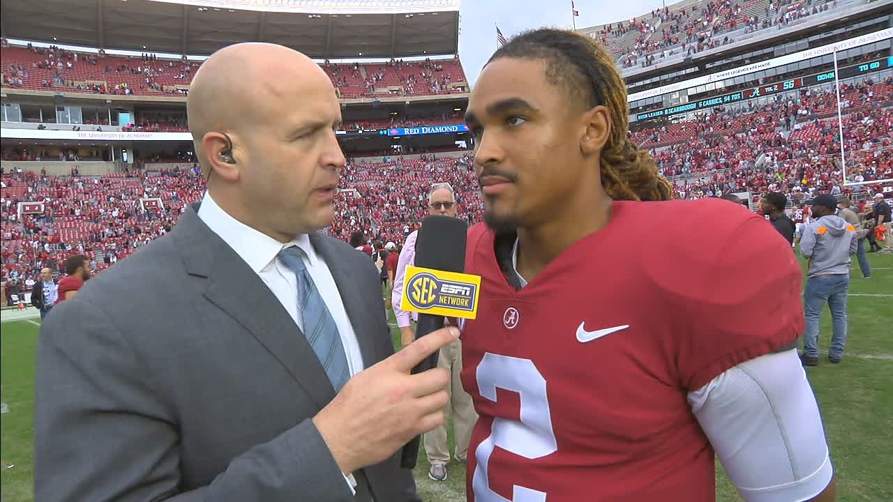 Alabama's Hurts discusses blowout