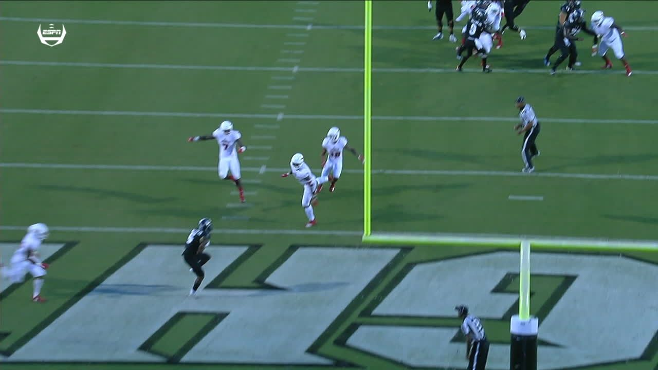 Milton throws dime for 12-yard TD