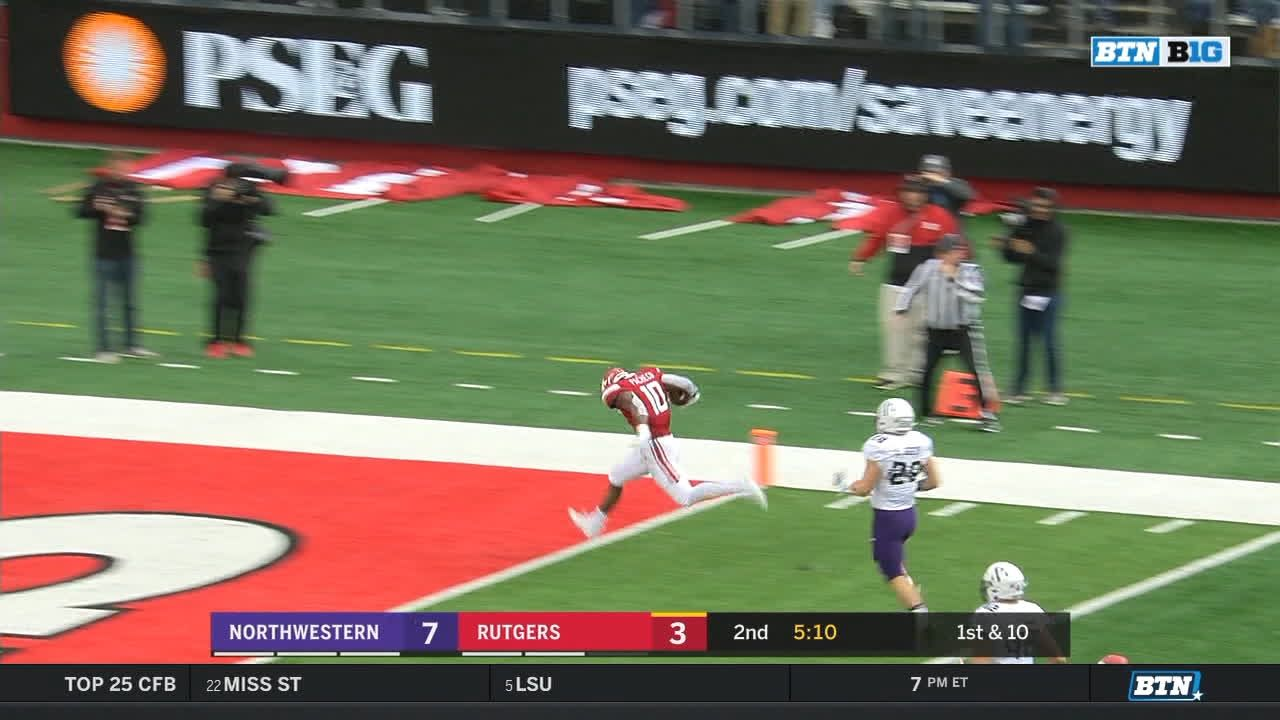 Rutgers RB finds a hole for 44-yard TD