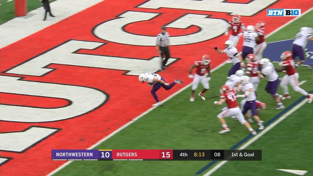 Northwestern RB Bowser rushes for 2nd TD