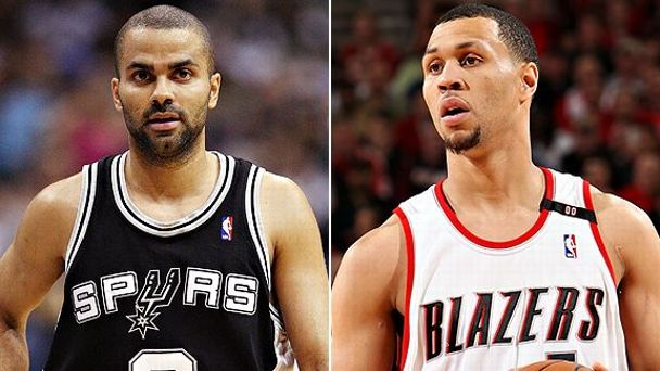 Tony Parker and Brandon Roy