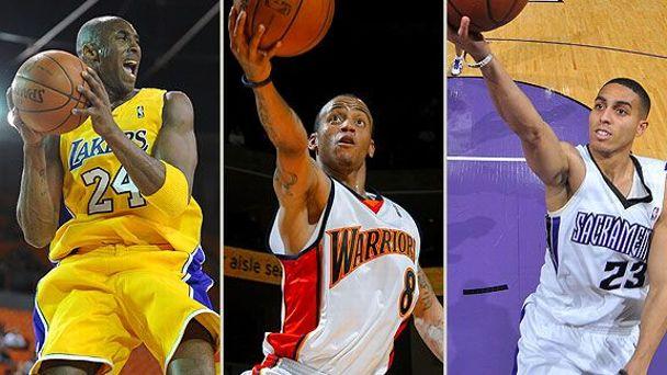 Kobe Bryant, Monte Ellis & Kevin Martin