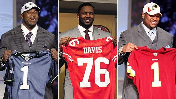 Russell Okung, Anthony Davis, and Trent Williams