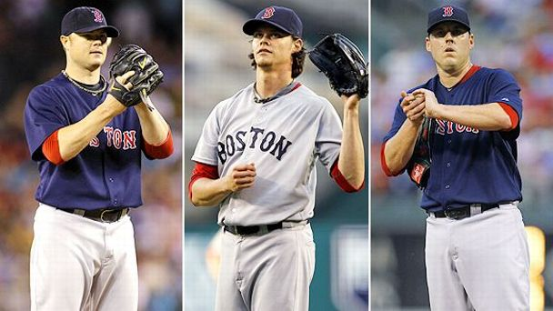 Jon Lester, Clay Buchholz and John Lackey