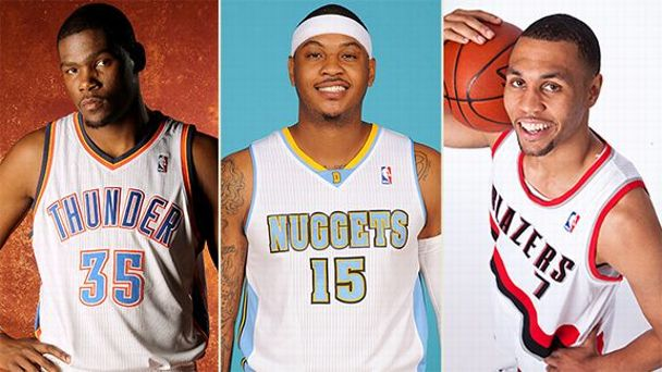 Kevin Durant, Carmelo Anthony, Brandon Roy