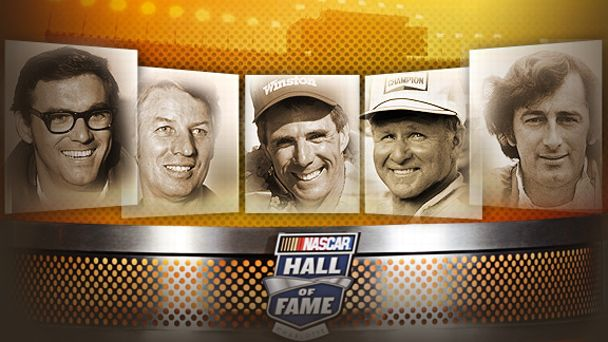Dale Inman, Glen Wood, Darrell Waltrip, Cale Yarborough and Richie Evans
