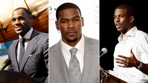 James, Durant, Paul