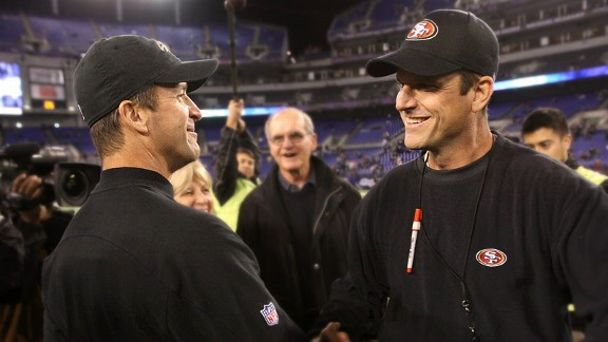 Jim Harbaugh and John Harbaugh