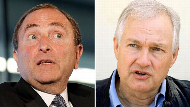 Gary Bettman and Donald Fehr