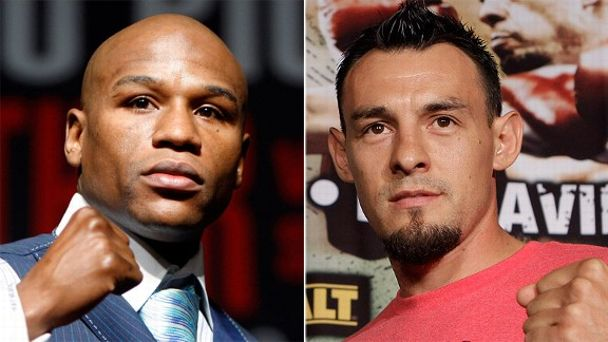 Floyd Mayweather Jr. and Robert Guerrero