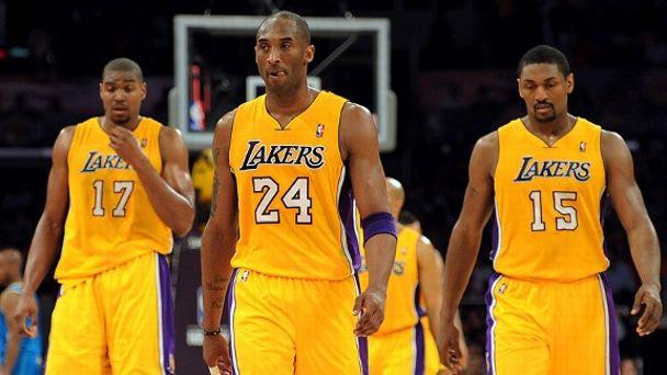 Kobe Bryant, Andrew Bynum, Metta World Peace