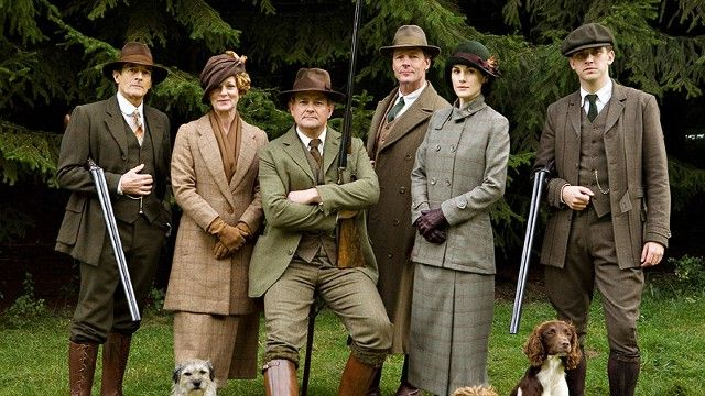 The Characters on Downton Abbey in Hunting Tweed