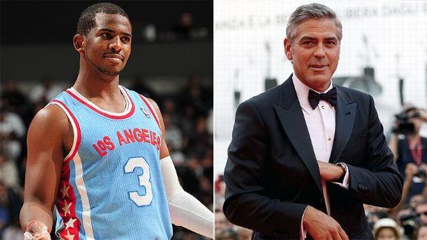 Chris Paul and George Clooney