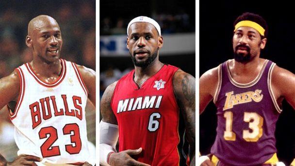 Michael Jordan, LeBron James, Wilt Chamberlain