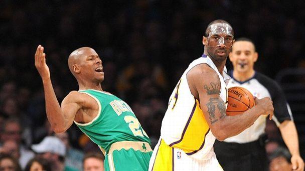 Ray Allen and Kobe Bryant
