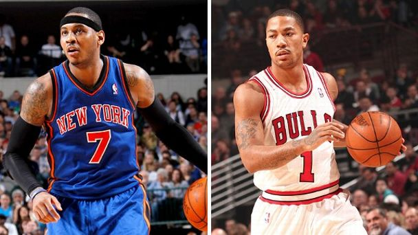 Carmelo Anthony and Derrick Rose