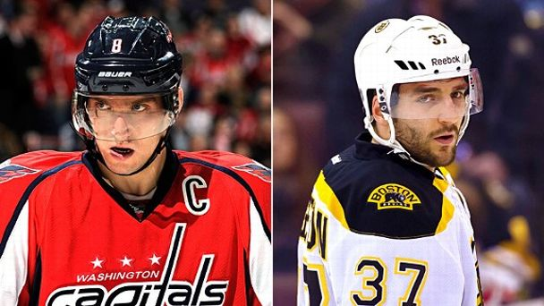 Alex Ovechkin and Patrice Bergeron