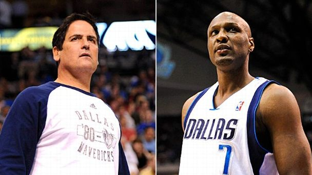 Mark Cuban and Lamar Odom
