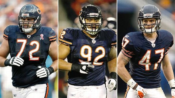 Gabe Carimi, Stephen Paea and Chris Conte