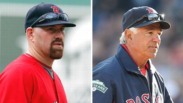 Kevin Youkilis and Bobby Valentine