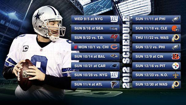 Dallas Cowboys Schedule Index