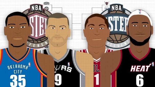 NBA Playoffs Illustration